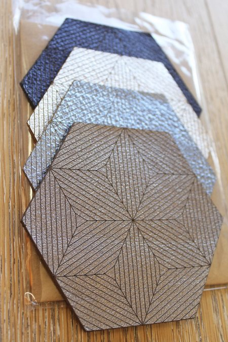 Molly M. Leather Tricon Coasters
