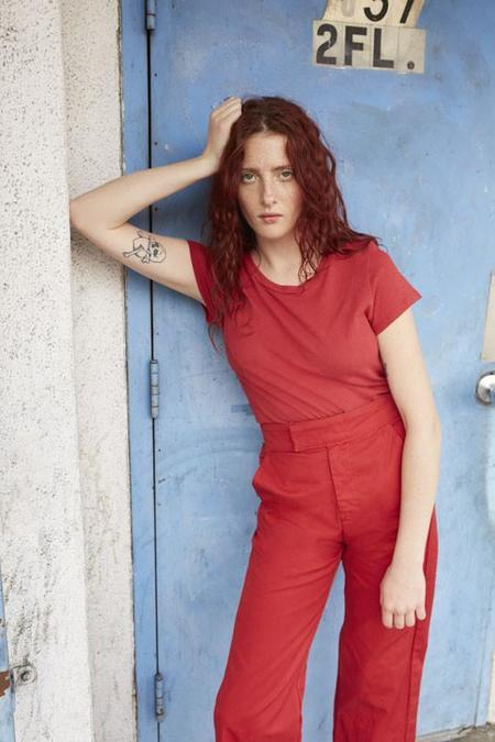 Lacausa Uniform Trouser in Red