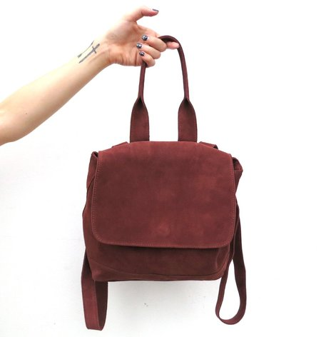 Clyde Small Room Backpack in Brick Suede