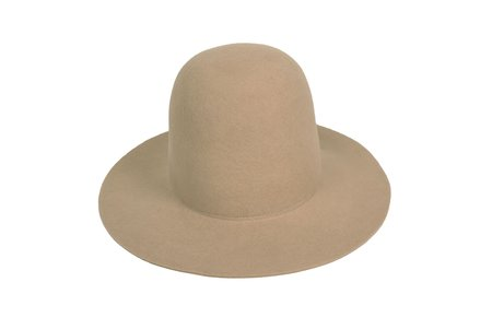 Clyde Short Brim Dome Hat in Camel Wool