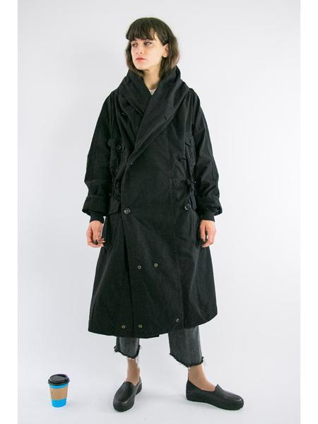Unisex Kapital Katsuragi Tall Ring Coat - Black