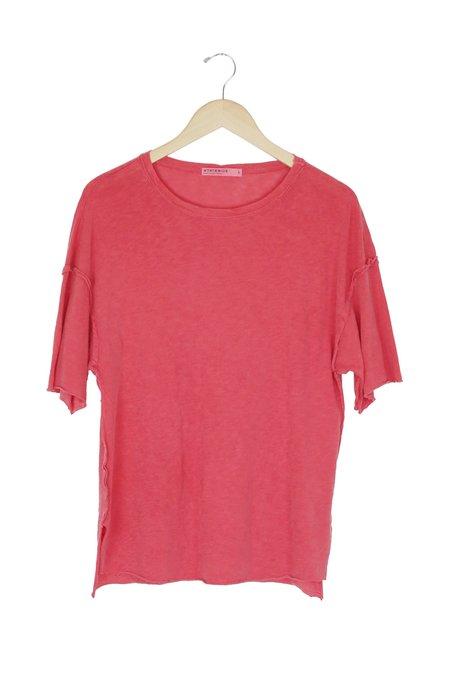 Stateside Slub Short Sleeve Oversize Tee in Scarlet