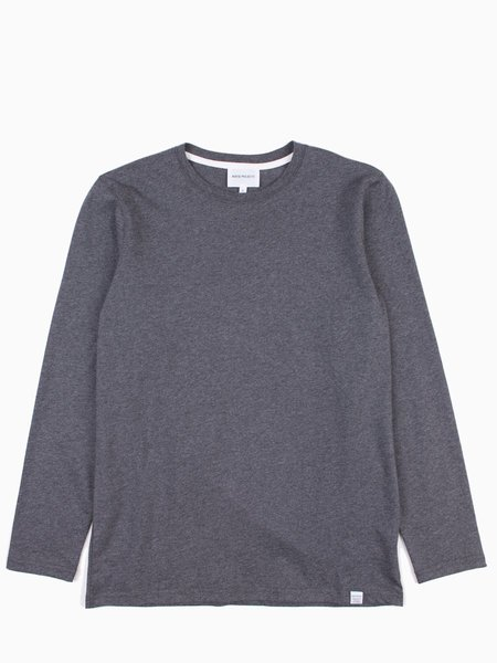 Norse Projects Niels Standard LS Charcoal Melange