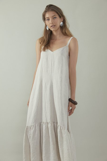 OVNA OVICH Bell Dress - Ecru Linen