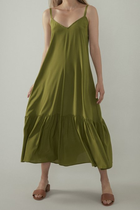 OVNA OVICH Bell Dress - Matcha Silk