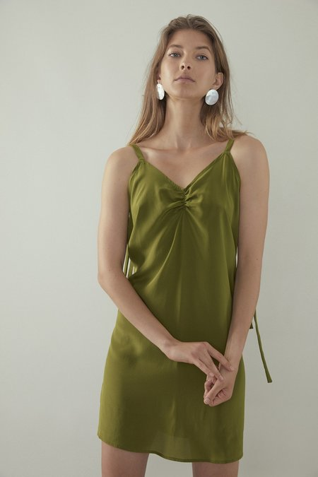 OVNA OVICH Shelk Dress - Matcha Silk