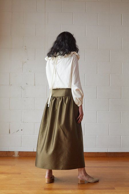 OVNA OVICH Zabota Skirt - Bronze Silk Cotton