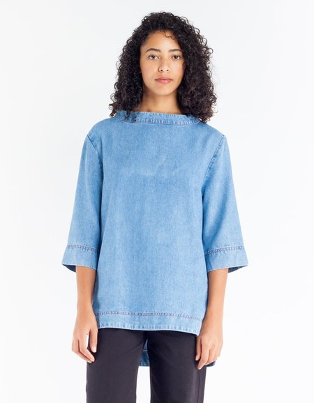 Sideline Nova Top - Washed Denim