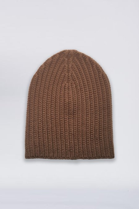 Assembly New York Cashmere Knit Beanie - Coffee