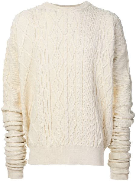 Unisex Y/project Ivory Cable Knit Sweater