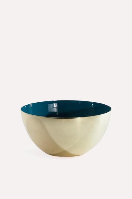 Hawkins New York Louise Brass Bowl Large in Peacock