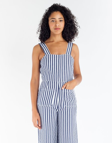 Rollas Sailor Jumpsuit - Navy Stripe