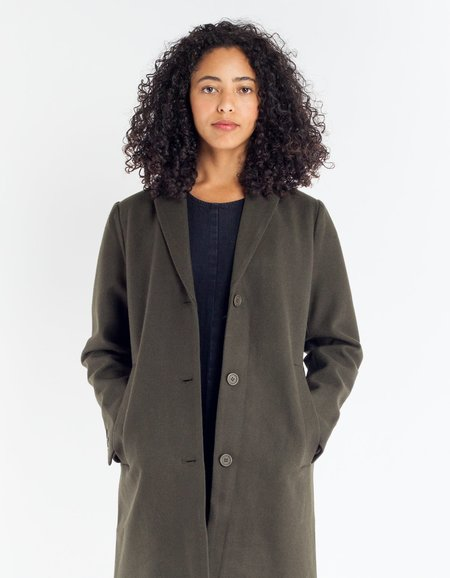 Selfhood Wool Coat - Army