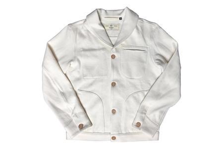 Rogue Territory Shawl Collar Supply Jacket - Natural Knit Denim