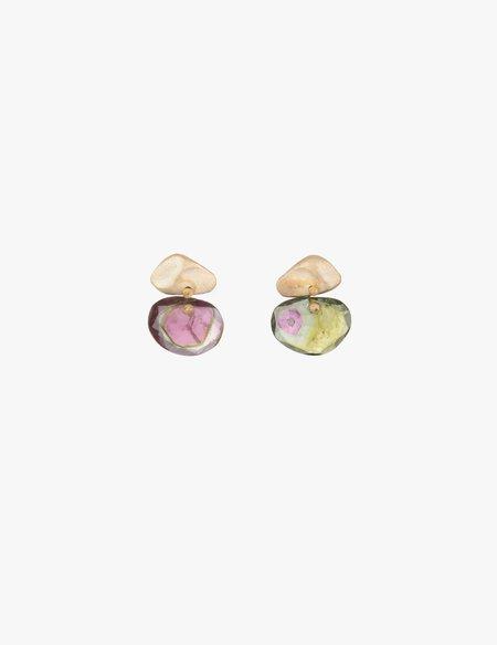 Kathryn Bentley Amorphous Watermelon Tourmaline Earrings