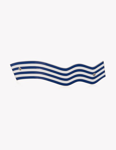 Dream Collective Blue & White Wavy Bacon Barrette