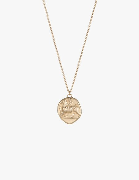 Kathryn Bentley Chimera and Dove Coin Pendent