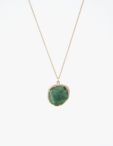 Kathryn Bentley Emerald Organic Amulet Pendant