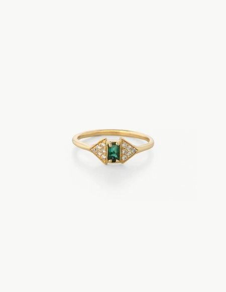 Kathryn Bentley Joni Ring in Diamond and Emerald