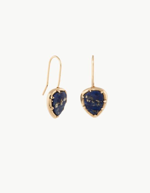Kathryn Bentley Lapis Organic Amulet Earrings