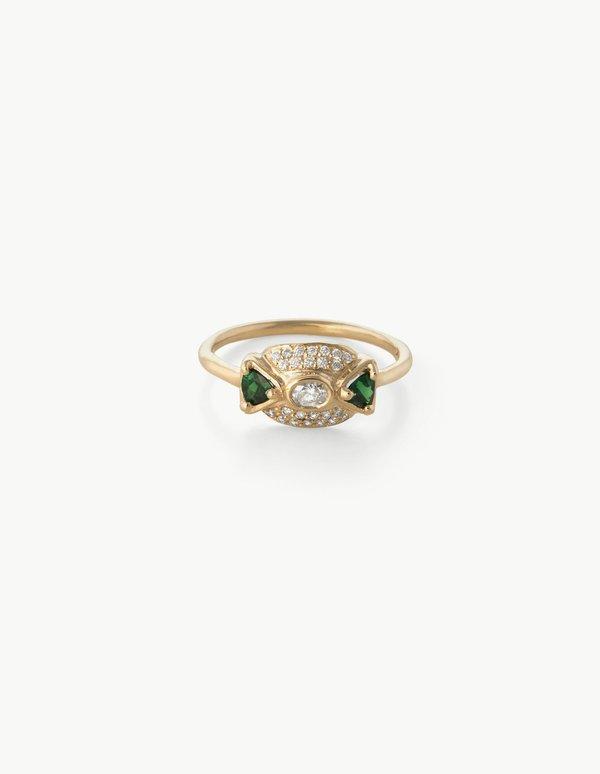 Kathryn Bentley Leida Ring in Tsavorite & Diamond