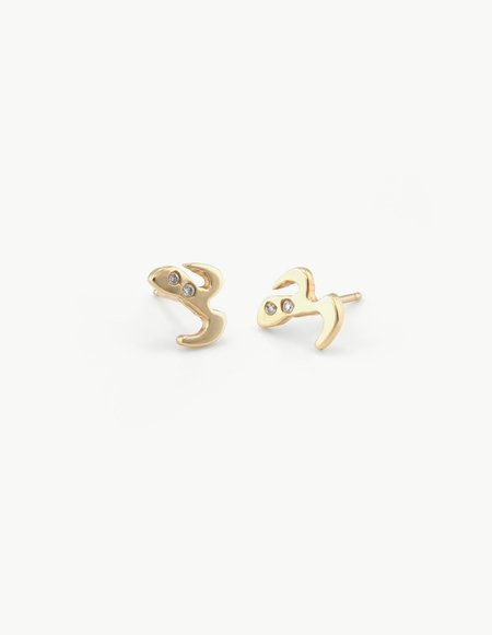Dream Collective Moustache & Mask Studs with Diamonds