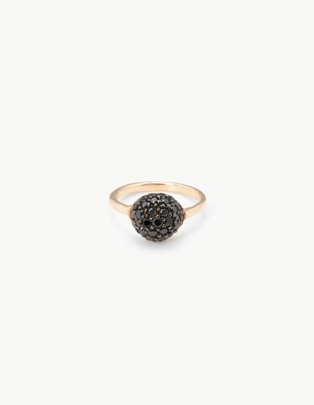 Kathryn Bentley Small Black Diamond River Rock Ring