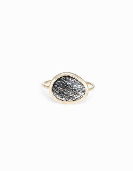 Kathryn Bentley Tourmalinated Quartz Slice Ring