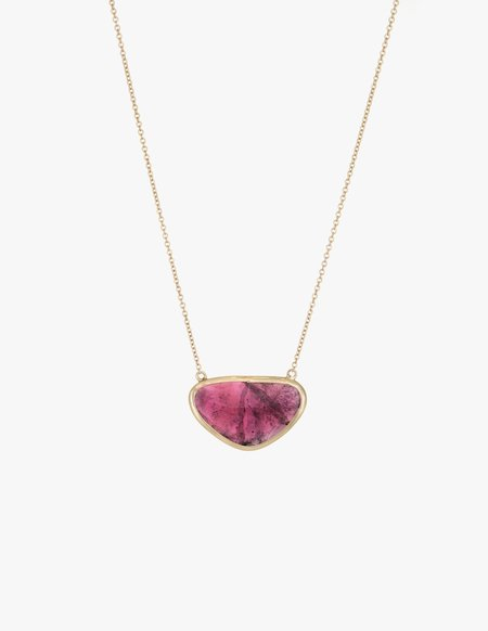 Kathryn Bentley Tourmaline Slice Necklace
