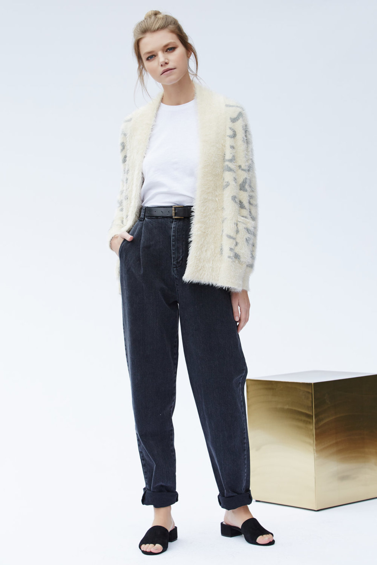 14fdab5fbae4 Callahan Snow Leopard Cardigan   Garmentory