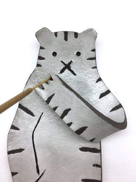 Ninni Studio Smoking Animal Incense Holder - Stripe
