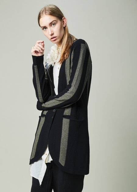 Aleksandr Manamis Long Striped Cardigan