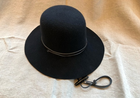 Brookes Boswell Suncrest Black Wool Felt Hat
