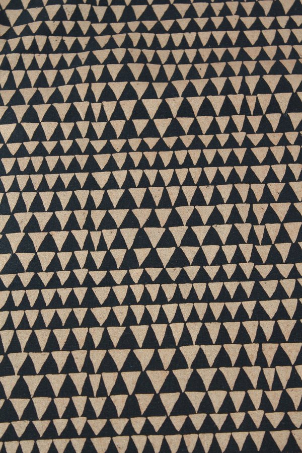 Beklina Lina Rennell Yardage Copper Triangle Silk Noil Black