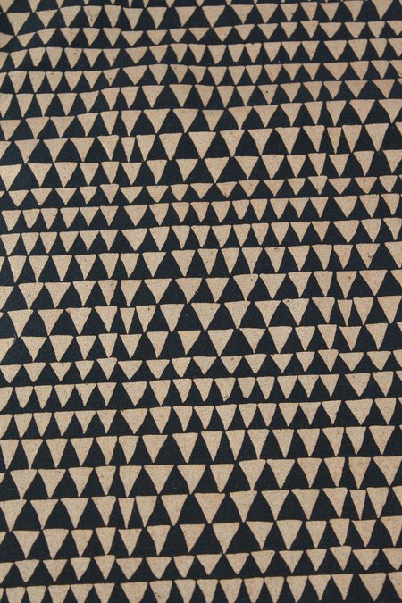 Beklina Lina Rennell Silk Noil Yardage - Copper/Triangle Black