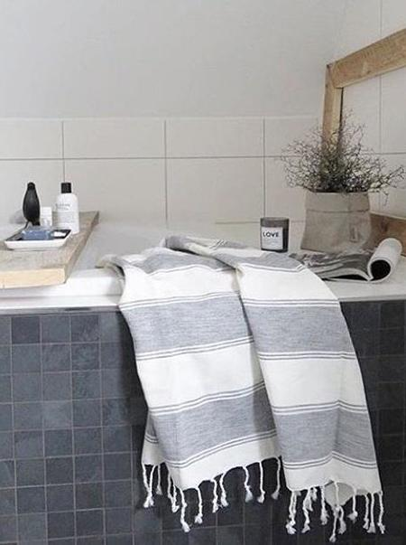 Tama Towels Fouta Cloud - White Gray