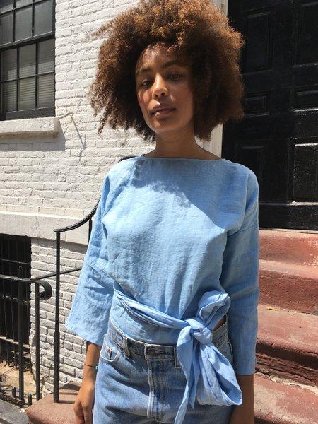 Miranda Bennett Linen Wrap Top