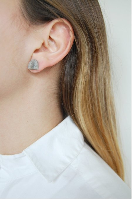 Elise Ballegeer Blake Earrings - Granite