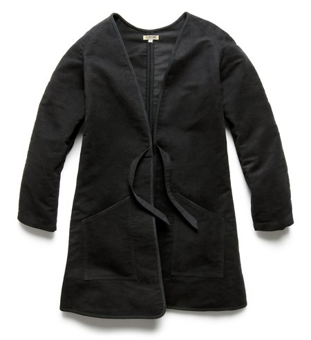 Fortune Goods Zenith Tunicmoleskin Long Liner Jacket -Black