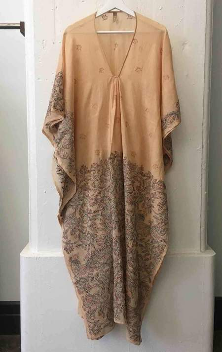 Two Kantha caftan in bisque