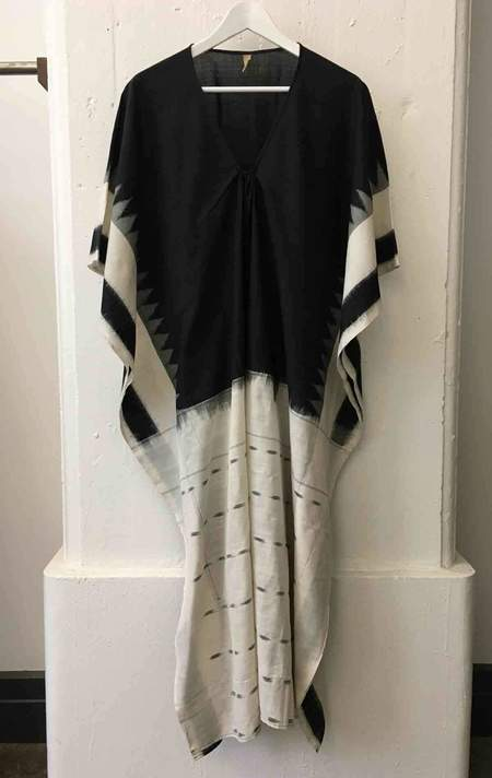 Two White Front Ikat Caftan