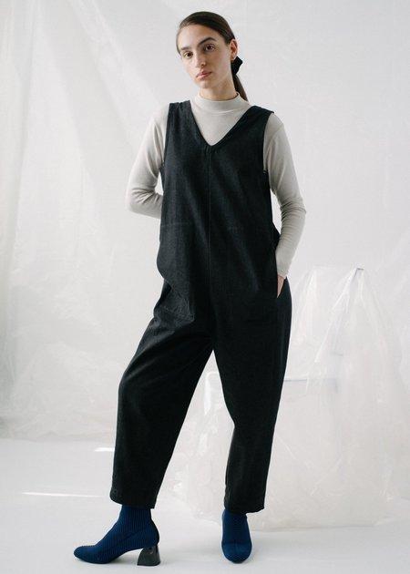 REIFhaus Lou Jumpsuit in Black Denim