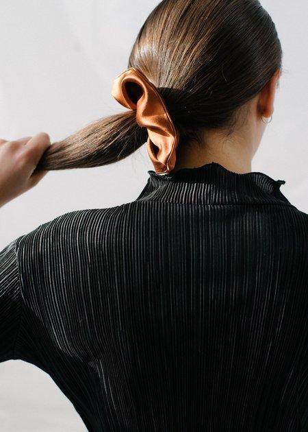 REIFhaus Scrunchie Hair Tie in Copper Satin