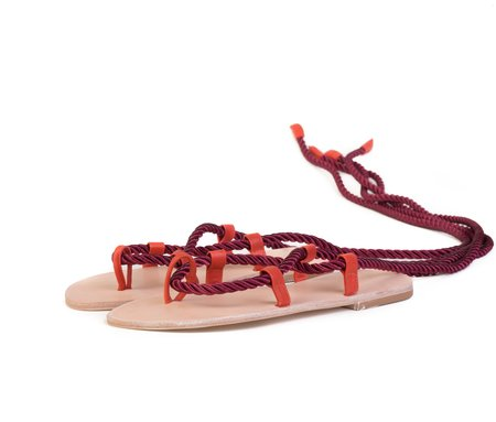 The Palatines Helica Sandal - Sumac Satin Cord