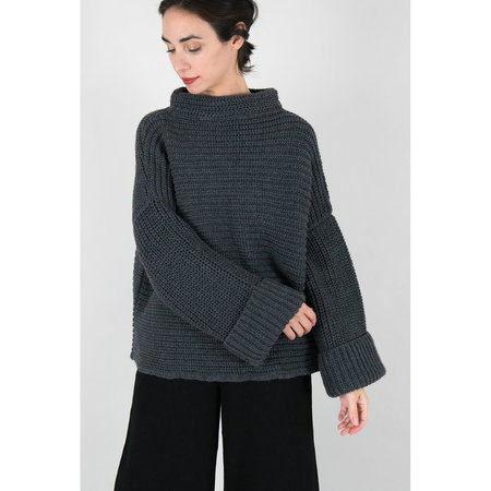 Micaela Greg Parallel Pullover Sweater - Melange Grey