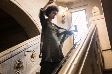 Erica Tanov Pearl Coat - Black