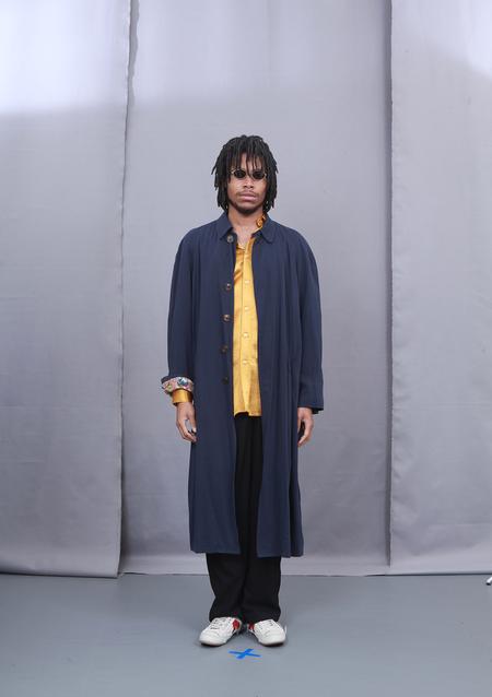 3standardstoppage Vintage Double-sided Jean Paul Gaultier Overcoat