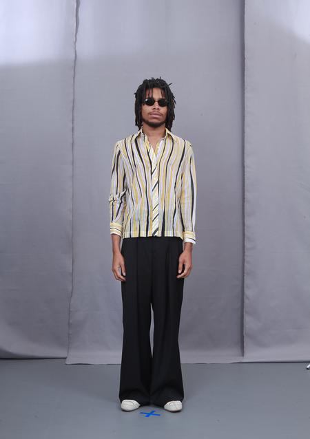 Unisex 3standardstoppage Vintage Yellow Stripe Shirt