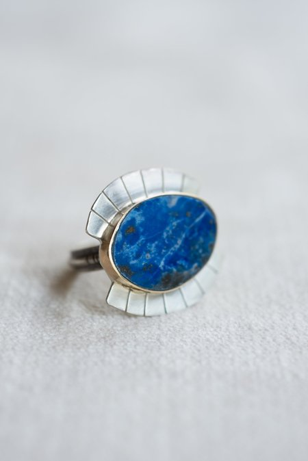 Young In the Mountains Wide Eye Ring - Lapis
