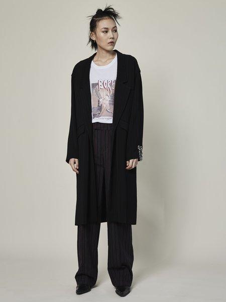 Rask Single Chain Coat - black